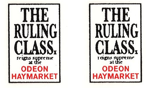 THE RULING CLASS FRONT ADVERTS