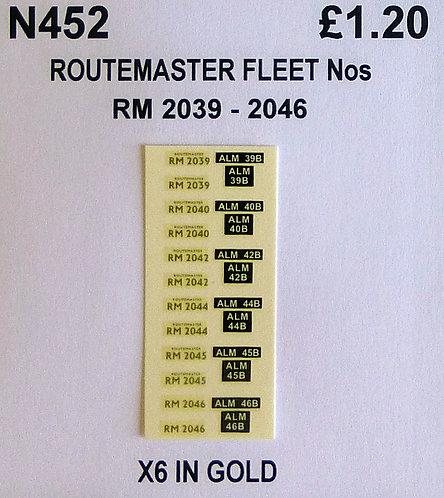 Gold RM 2039, 2040, 2042, 2044, 2045, 2046