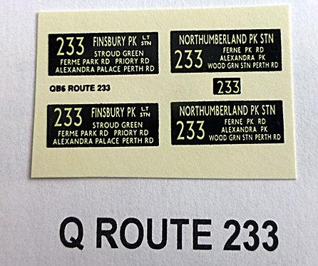 Q S/D Route 233