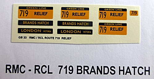 RMC/RCL Green Line Blinds Route 719