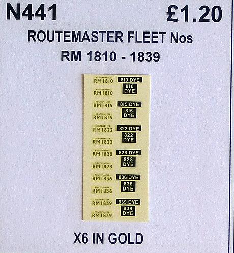Gold RM 1810, 1815, 1822, 1828, 1836, 1839
