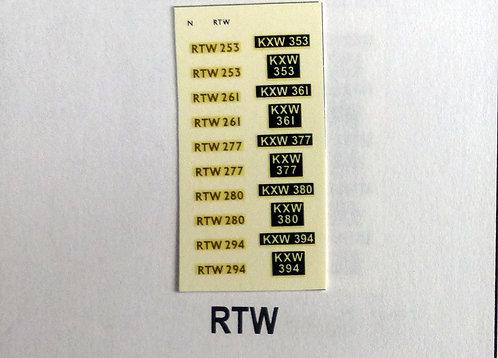 Gold RTW253, RTW261, RTW277, RTW280, RTW294