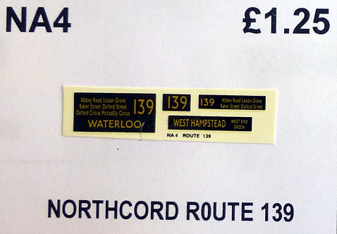 Northcord Route 139
