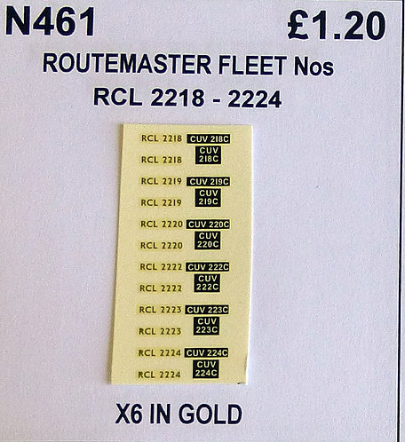 Gold RCL 2218, 2219, 2220, 2222, 2223, 2224