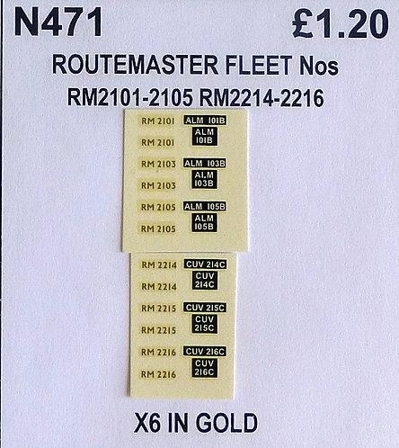 Gold RM 2101, 2103, 2105, 2214, 2215, 2216