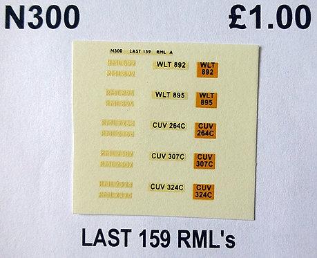 White RML892, RML895, RML2264, RML2307, RML2324