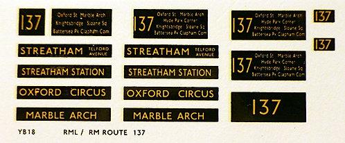 Modern RM/RML  Route 137
