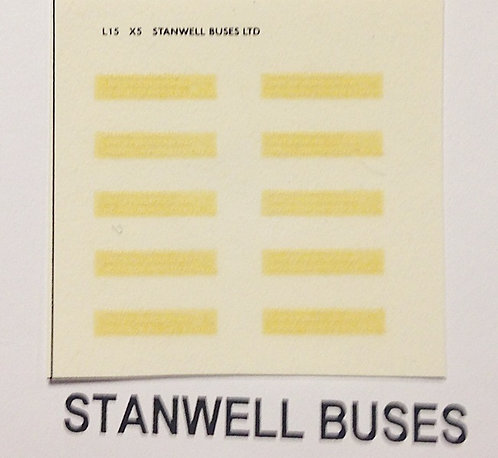Legal Lettering  Stanwell Buses
