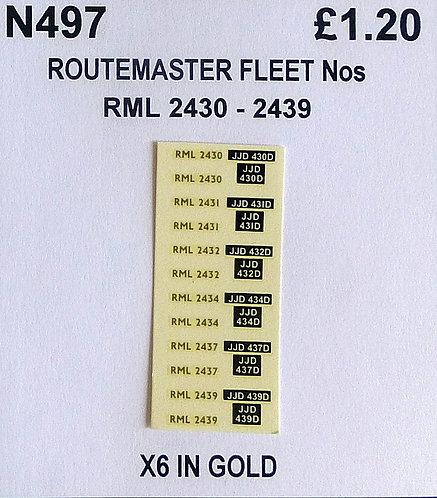 Gold RML 2430, 2431, 2432, 2434, 2437, 2439
