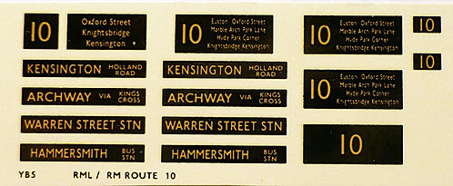 Modern RM/RML  Route 10