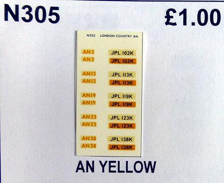 Yellow AN2, AN13, AN19, AN23, AN38