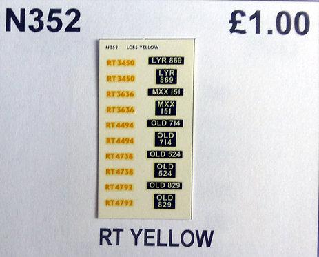 Yellow RT3450, RT3636, RT4454, RT4738, RT4792
