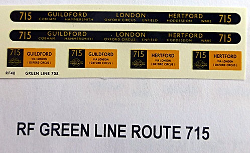 Green Line RF Route 715 (1950's)