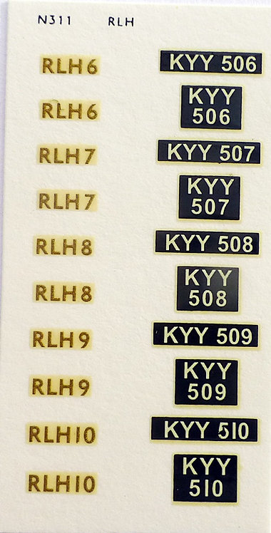Gold RLH6, RLH7, RLH8, RLH9, RLH10