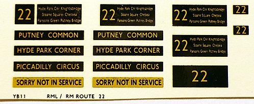Modern RM/RML  Route 22