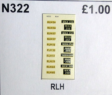 Gold RLH56, RLH57, RLH58, RLH59, RLH60