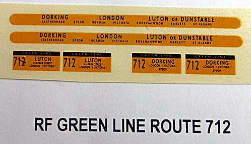 Green Line RF Route 712 (1960-70's)