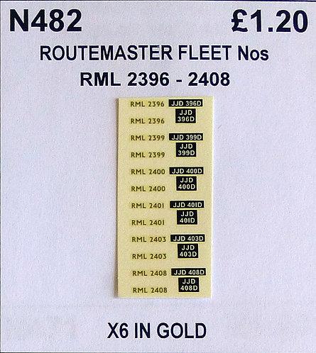 Gold RML 2396, 2399, 2400, 2401, 2403, 2408