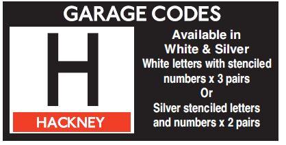 H In Sliver Or White