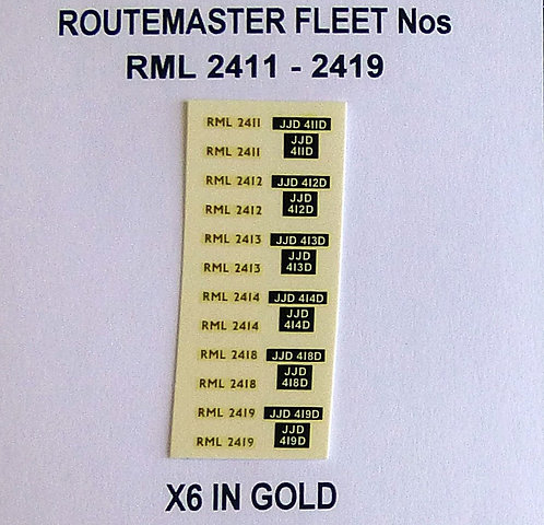 Gold RML 2411, 2412, 2413, 2414, 2418, 2419