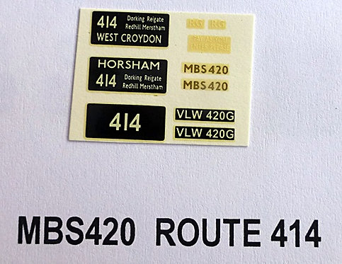 MB / MBS Route 414 (MBS420)