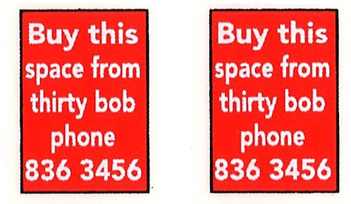 THIRTY BOB FRONT ADVERTS