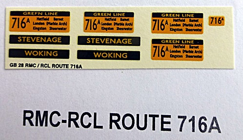 RMC/RCL Green Line Blinds Route 716A