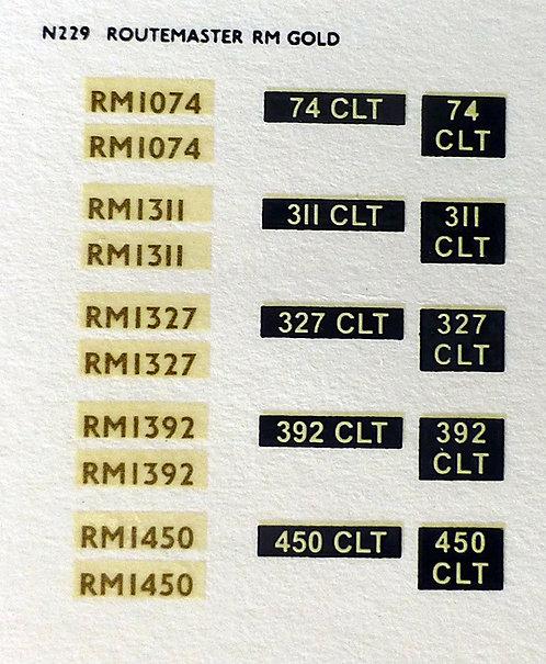 Gold RM1074, RM1311, RM1327, RM1392, RM1450