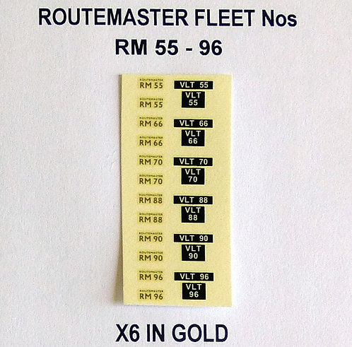 Gold RM 55, 66, 70, 88, 90, 96