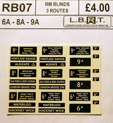 Set Of RM Blinds (6A, 8A, 9A)