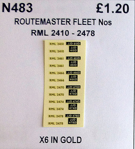 Gold RML 2410, 2461, 2466, 2470, 2474, 2478