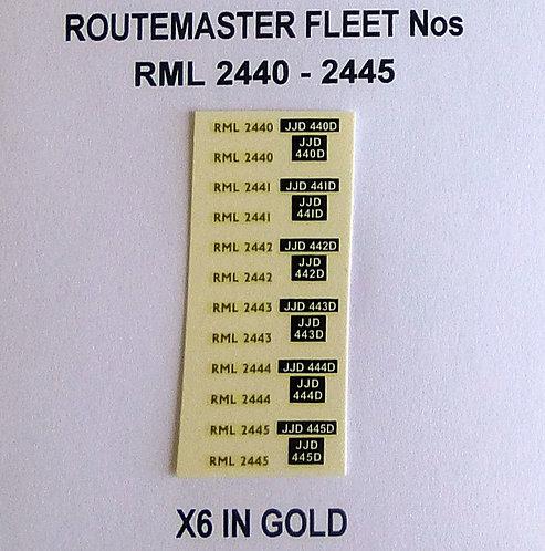 Gold RML 2440, 2441, 2442, 2443, 2444, 2445
