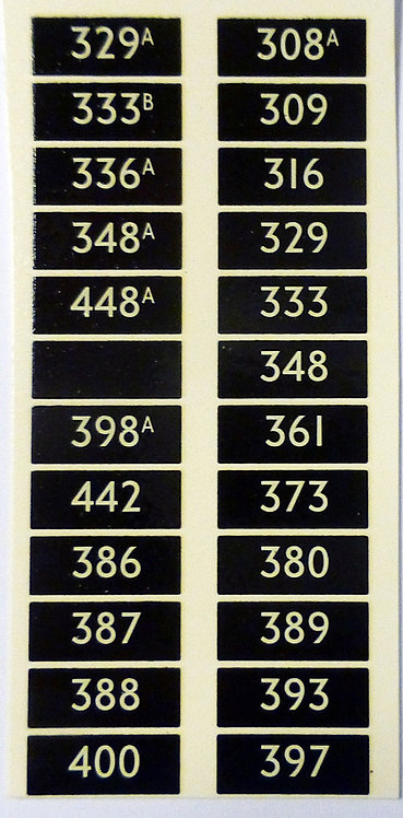 LARGE REAR NUMBERS SET 1