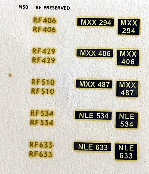 Gold RF406, RF429, RF510, RF534, RF633