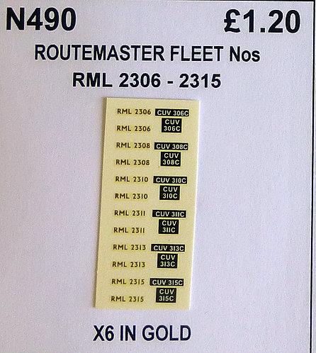 Gold RML 2306, 2308, 2310, 2311, 2313, 2315