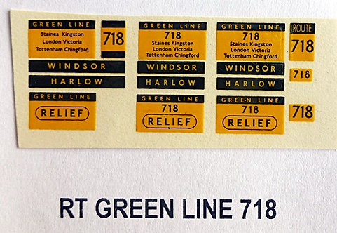 RT Green Line Blinds Route 718