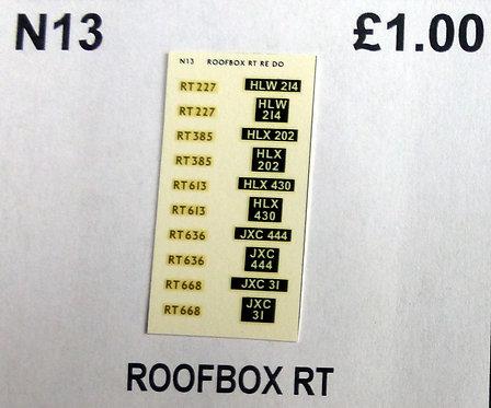 Gold RT385, RT227, RT668, RT613, RT636