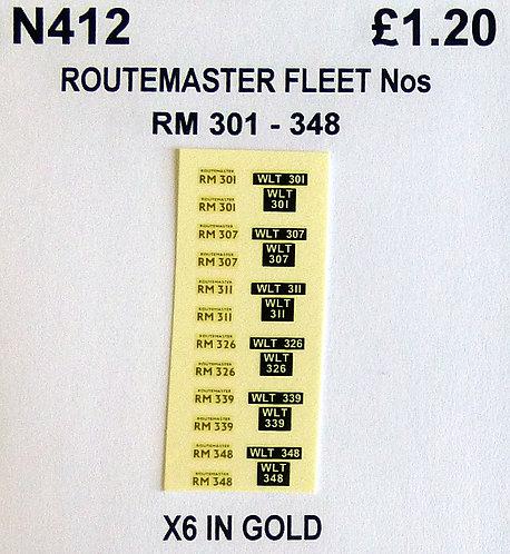 Gold RM 301, 307, 311, 326, 339, 348
