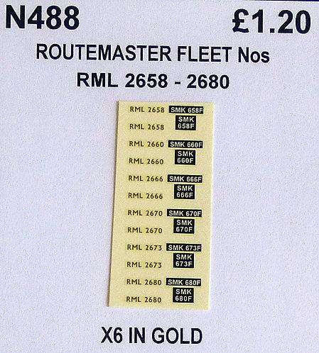 Gold RML 2658, 2660, 2666, 2670, 2673, 2680