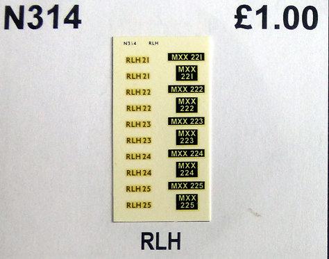 Gold RLH21, RLH22, RLH23, RLH24, RLH25