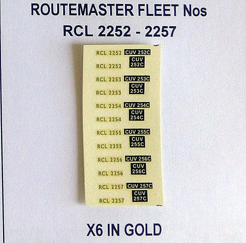 Gold RCL 2252, 2253, 2254, 2255, 2256, 2257
