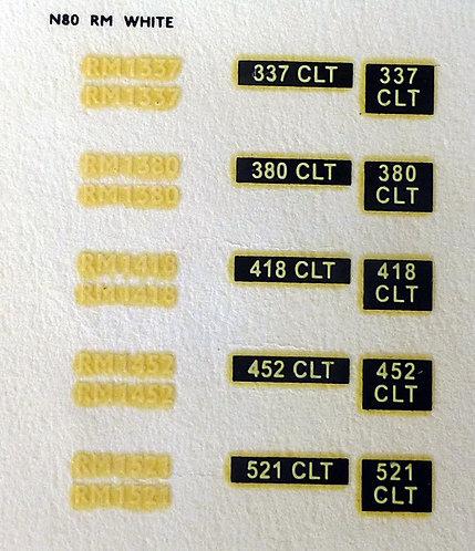 White RM1337, RM1380, RM1418, RM1452, RM1521