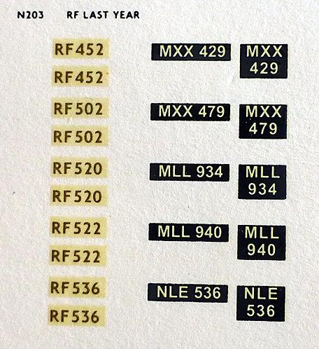 Gold RF452, RF502, RF520, RF522, RF536