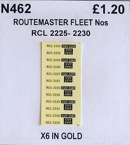 Gold RCL 2225. 2226, 2227, 2228, 2229, 2230
