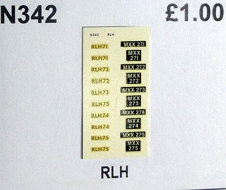 Gold RLH71, RLH72, RLH73, RLH74, RLH75