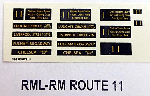 Modern RM/RML  Route 11