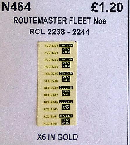 Gold RCL 2238, 2239, 2240, 2242, 2243, 2244