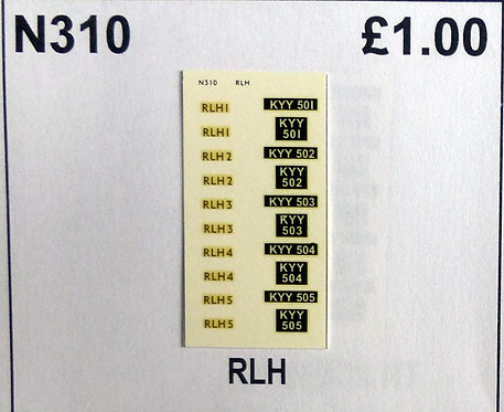 Gold RLH1, RLH2, RLH3, RLH4, RLH5