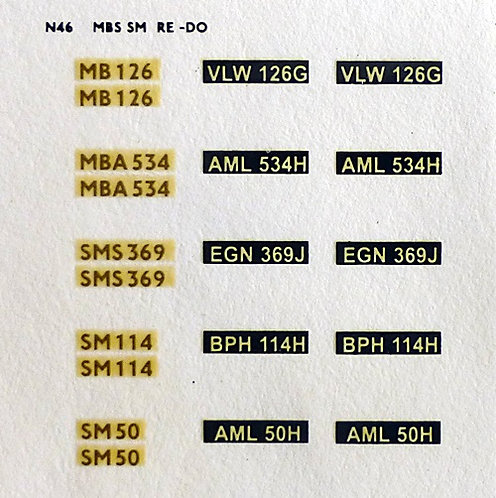 Gold MBS126, MBA534, SMS369, SM114, SM50