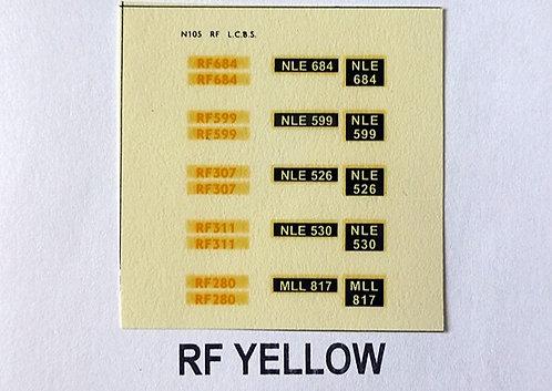Yellow RF684, RF599, RF307, RF311, RF280